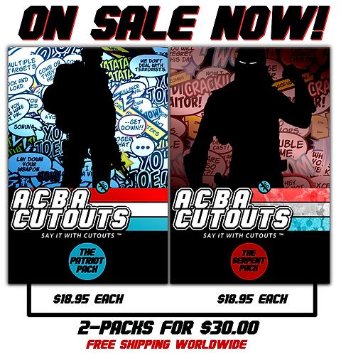 A.C.B.A. Cutouts Patriot/Serpent DOUBLE Pack