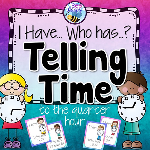 Telling Time to the Quarter Hour Game