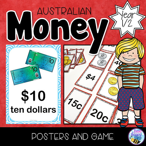 Australian Money Posters and Game Year 1/2