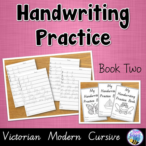 Australian Handwriting Practice Book 2 Victorian Modern Cursive