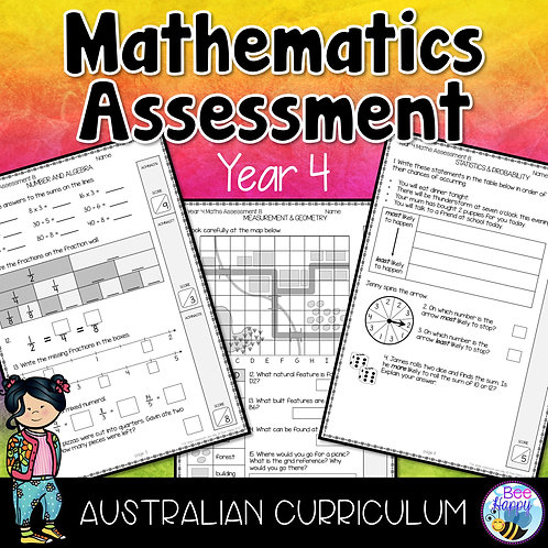Mathematics Assessment Year 4 Australian Curriculum