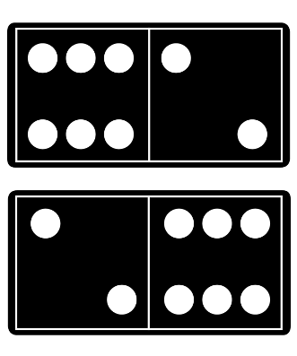 Using dominoes for turn around facts