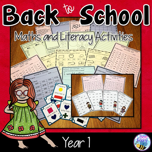 Back to School Maths and Literacy Activities and Assessment