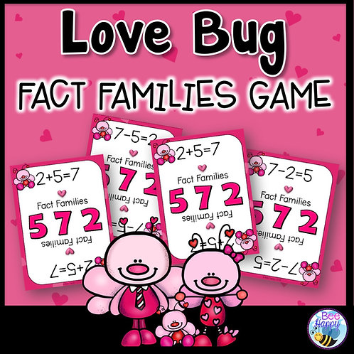 Valentine's Day Fact Families Game