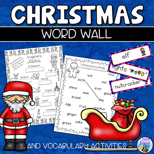 Christmas Word Wall and Vocabulary Worksheets