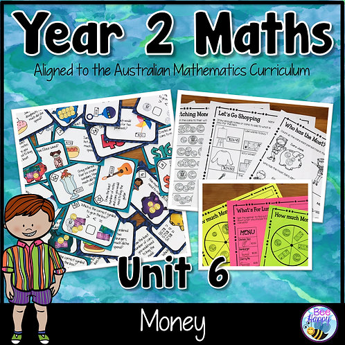 Year 2 Maths Unit 6 Money Worksheets and Task Cards