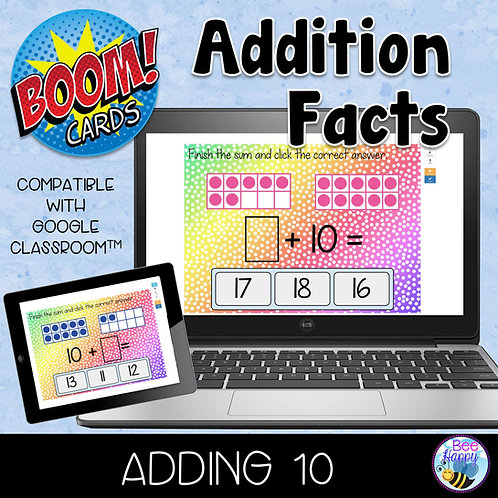 Addition Facts Adding 10 Boom Cards