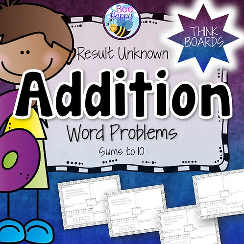 Addition Word Problems Result Unknown