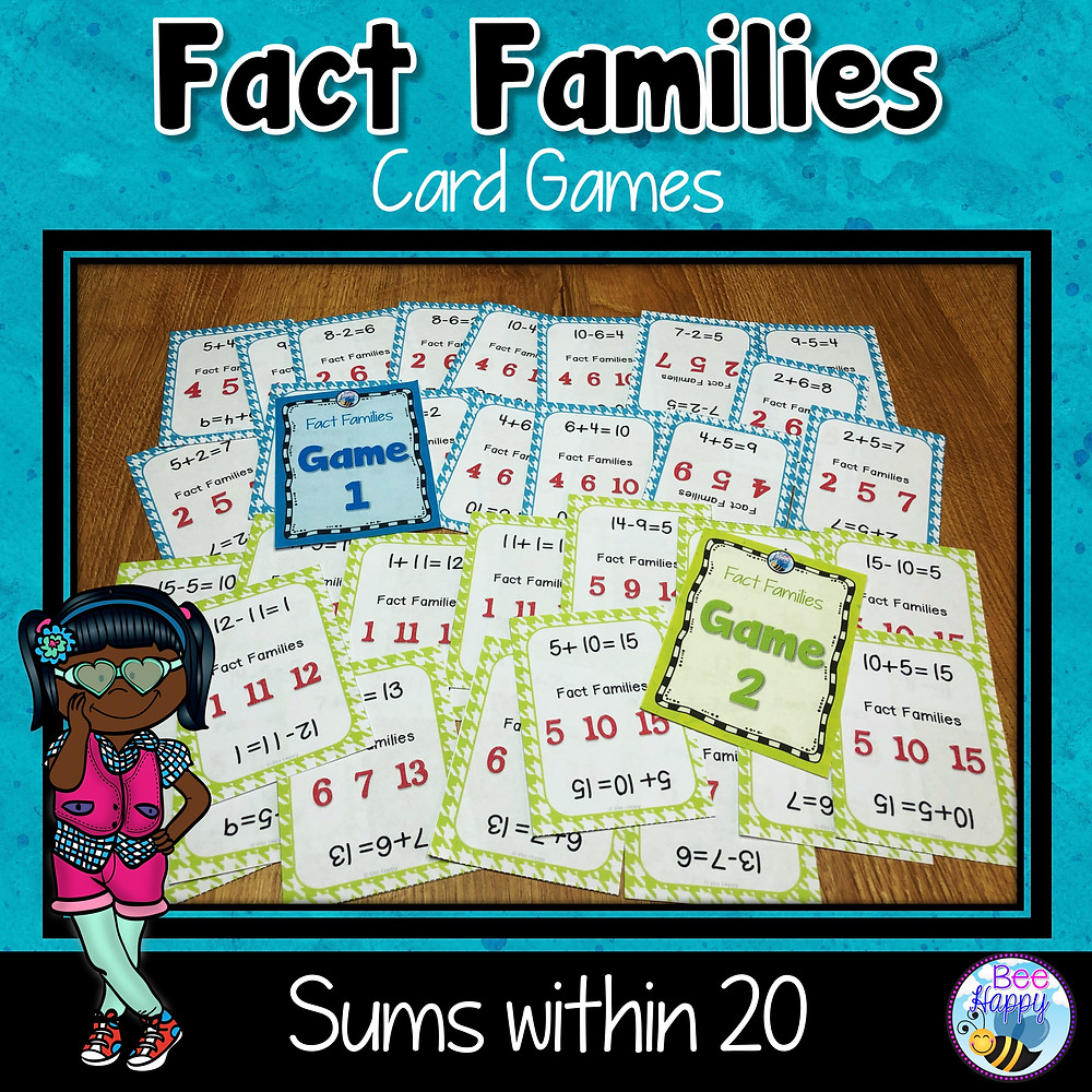 Fact Families Card Game Year 1