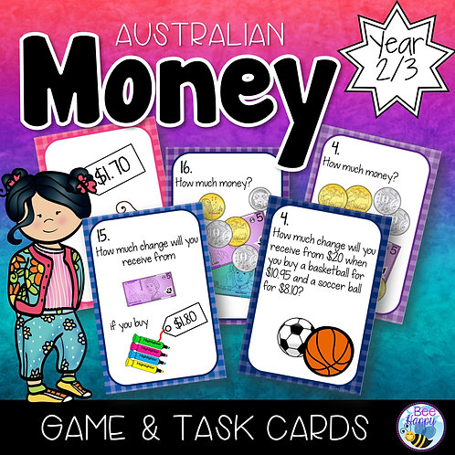 Australian Money Game and Task Cards Yr 2/3