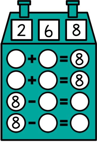Fact Family House Addition and Subtraction