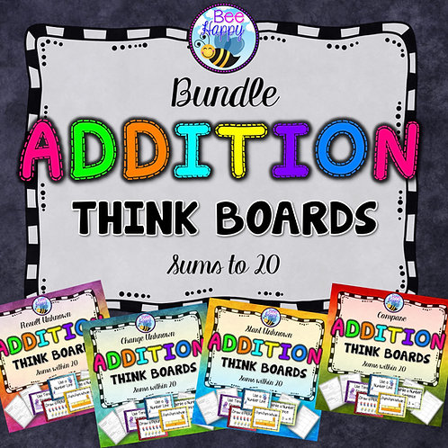 Addition Word Problems Sums to 20 Bundle