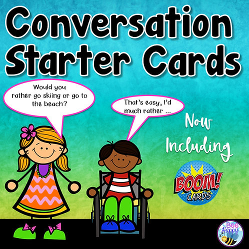 Conversation Starter Cards + Boom Cards