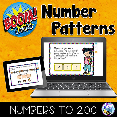 Number Patterns Boom Cards
