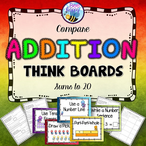 Addition Word Problems Compare Sums to 20