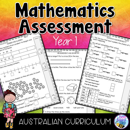 Mathematics Assessment Year 1 Australian Curriculum