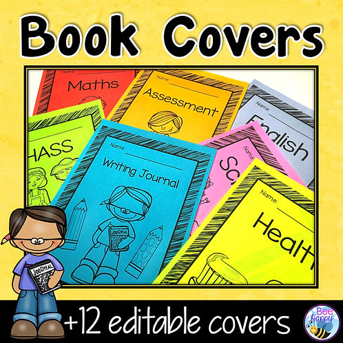 Editable Book Covers Scribble