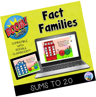 Boom Cards Fact Families Sums to 20 Year 1 Grade 1