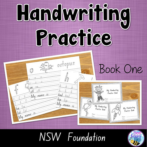 Australian Handwriting Practice Book 1 NSW Foundation
