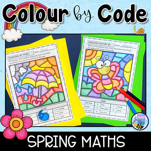 Colour by Code Spring Maths