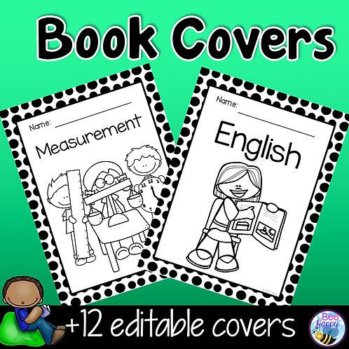 Editable Book Covers Polka Dots