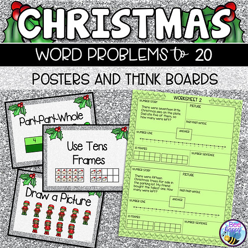 Christmas Word Problems Addition & Subtraction to 20