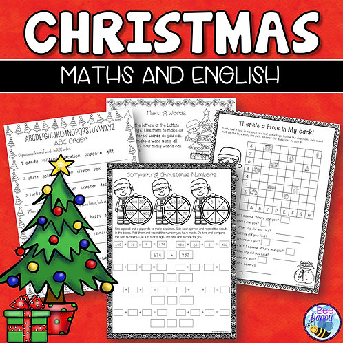 Christmas Maths and English Worksheets