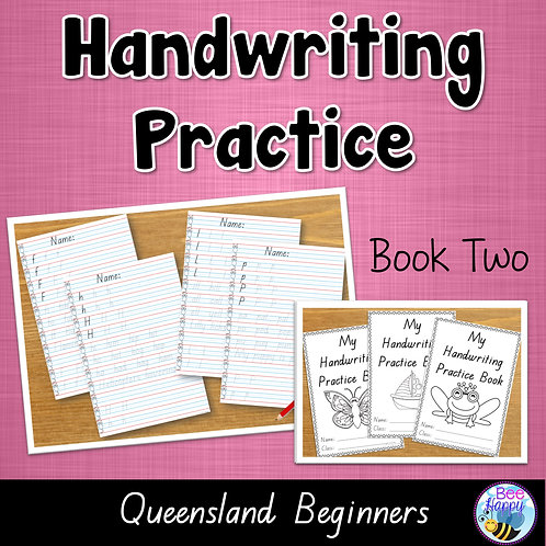 Australian Handwriting Practice Book 2 Queensland Beginners