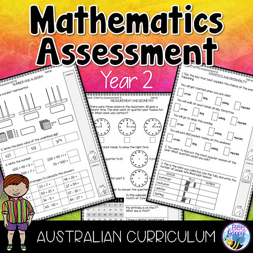 Mathematics Assessment Year 2 Australian Curriculum