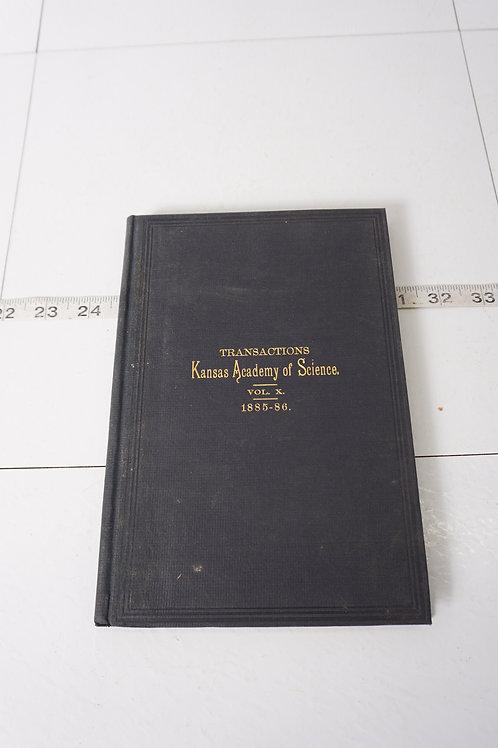 1885 Transactions Kansas Academy Of Science Book