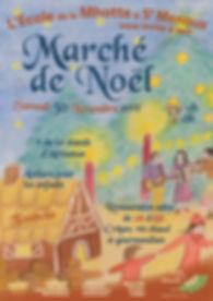 Affiche Marché de Noël de la Mhotte