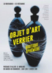 boutique art verrier affiche