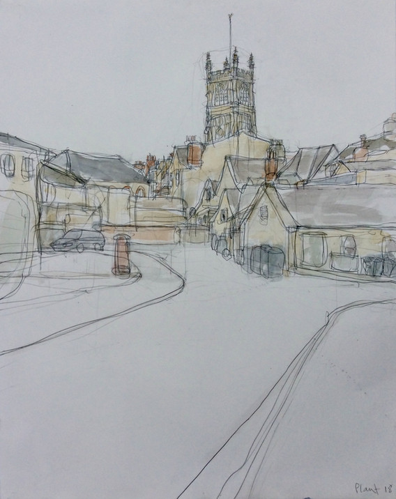 Cirencester Parish Church from The Forum