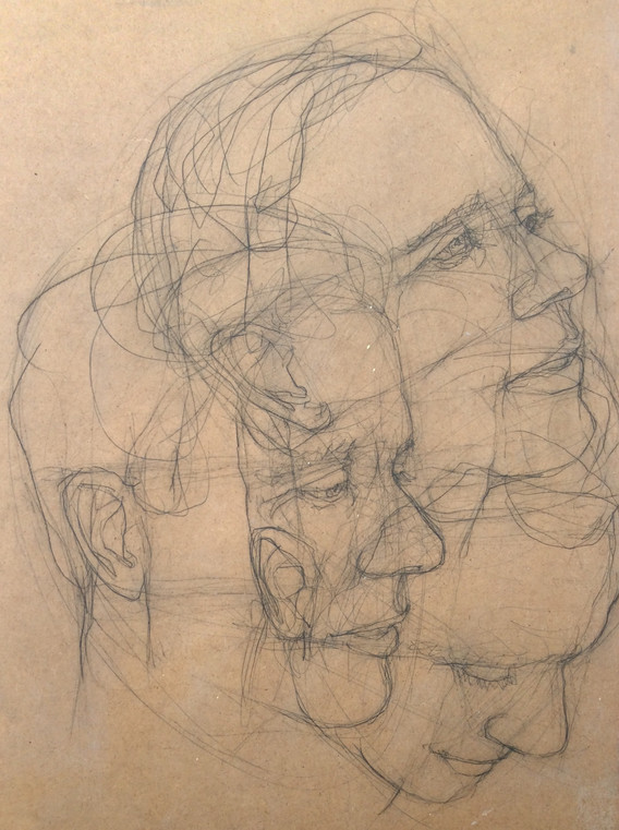 Detail of: Study for A Thinking Space