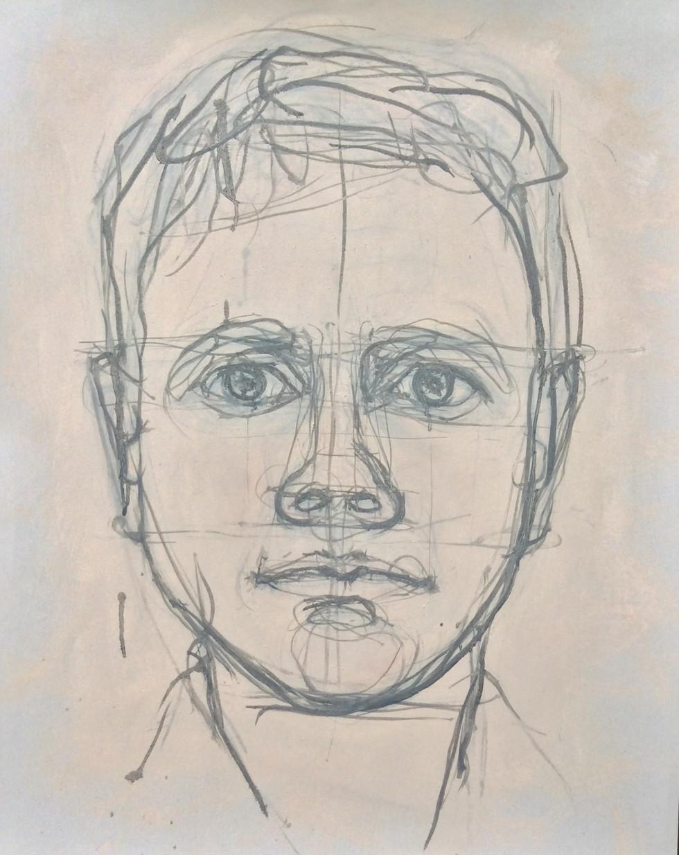Self Portrait Staring, March 2019