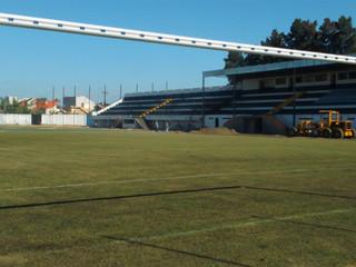 Estádio Domingos Gonzales recebe traves padrão Fifa