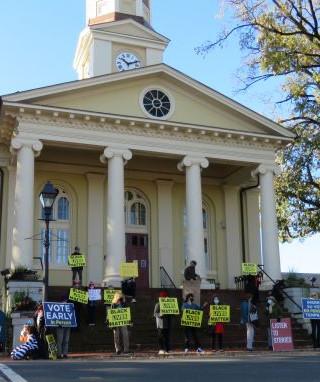 BLM Vigil for Action, Courthouse Square, Warrenton