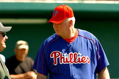 Charlie Manuel Philadelphia Phillies Steve Schrenk