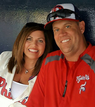 Steve Schrenk with wife Jennefer Schrenk Pitching Coach Pro
