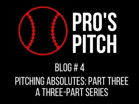 Post-Game Pitching Absolutes: Part Three of a Three Part Series