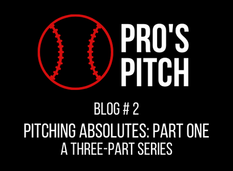 Pitching Absolutes: Pre-Game, In-Game, & Post-Game       A Three-Part Series