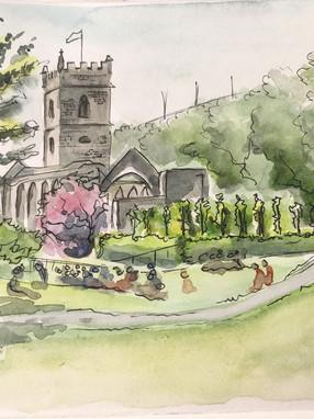 Castle park watercolour