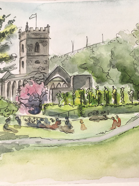 Castle park watercolour