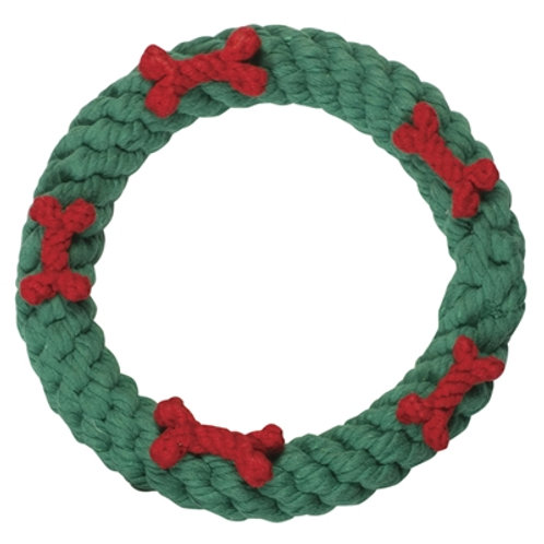 Green Ring with Red Bones
