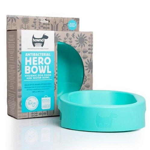 """Hownd """"Hero"""" Antimicrobial Dog Bowls with BioCote Protection"""