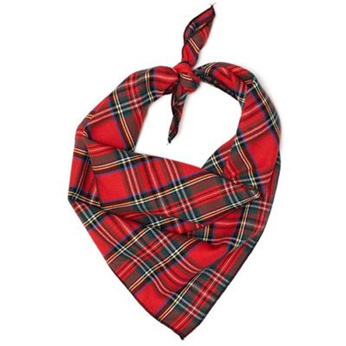 RED PLAID III BANDANA