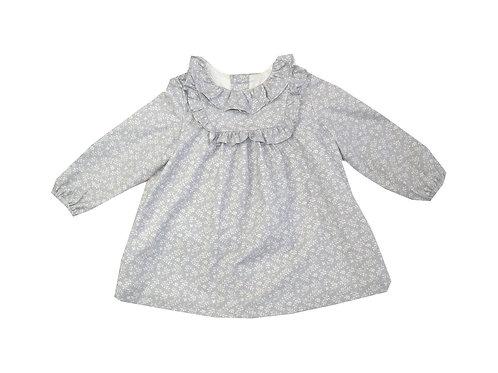 Vestido hoja gris