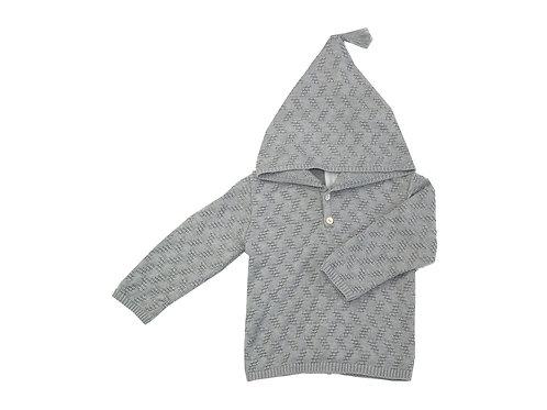 Jersey cremallera gris