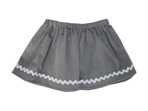 Falda felpa gris