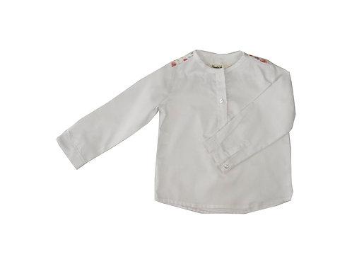 Camisa oxford canesu flores